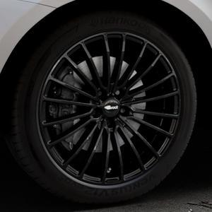 Brock B24 schwarz lackiert Felge mit Reifen in 20Zoll Winterfelge Alufelge auf silbernem Volvo XC60 Typ D Facelift ⬇️ mit 15mm Tieferlegung ⬇️ Industriehalle 1 Thumbnail
