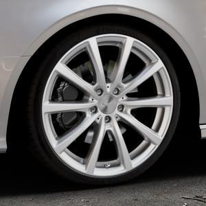 Brock B32 kristallsilber lackiert Felge mit Reifen in 19Zoll Winterfelge Alufelge auf silbernem Audi A3 Typ 8V (Cabriolet) ⬇️ mit 15mm Tieferlegung ⬇️ Industriehalle 1 Thumbnail
