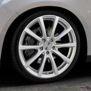 Brock B32 kristallsilber lackiert Felge mit Reifen in 19Zoll Winterfelge Alufelge auf silbernem Ford Focus III Typ DYB Facelift (Schrägheck) ⬇️ mit 15mm Tieferlegung ⬇️ Industriehalle 1 Thumbnail