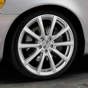 Brock B32 kristallsilber lackiert Felge mit Reifen in 19Zoll Winterfelge Alufelge auf silbernem Volvo C70 II Cabriolet Typ M ⬇️ mit 15mm Tieferlegung ⬇️ Industriehalle 1 Thumbnail