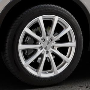 Brock B32 kristallsilber lackiert Felge mit Reifen in 19Zoll Winterfelge Alufelge auf silbernem Volvo XC40 Typ X ⬇️ mit 15mm Tieferlegung ⬇️ Industriehalle 1 Thumbnail