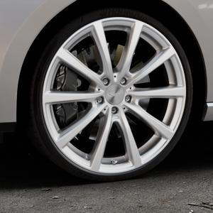 Brock B32 kristallsilber lackiert Felge mit Reifen in 20Zoll Winterfelge Alufelge auf silbernem Seat Leon Typ 5F ST Facelift ⬇️ mit 15mm Tieferlegung ⬇️ Industriehalle 1 Thumbnail