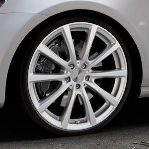 Brock B32 kristallsilber lackiert Felge mit Reifen in 20Zoll Winterfelge Alufelge auf silbernem Volkswagen (VW) Golf 7 ⬇️ mit 15mm Tieferlegung ⬇️ Industriehalle 1 Thumbnail