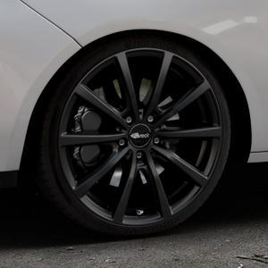 Brock B32 schwarz-matt lackiert Felge mit Reifen in 18Zoll Winterfelge Alufelge auf silbernem Opel Adam ⬇️ mit 15mm Tieferlegung ⬇️ Industriehalle 1 Thumbnail