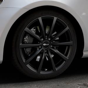 Brock B32 schwarz-matt lackiert Felge mit Reifen in 18Zoll Winterfelge Alufelge auf silbernem Volkswagen (VW) Golf 7 ⬇️ mit 15mm Tieferlegung ⬇️ Industriehalle 1 Thumbnail