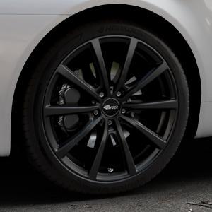 Brock B32 schwarz-matt lackiert Felge mit Reifen in 19Zoll Winterfelge Alufelge auf silbernem Alfa Romeo 159 Sportwagon ⬇️ mit 15mm Tieferlegung ⬇️ Industriehalle 1 Thumbnail