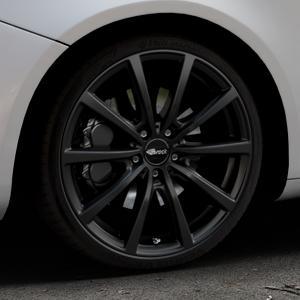 Brock B32 schwarz-matt lackiert Felge mit Reifen in 19Zoll Winterfelge Alufelge auf silbernem Alfa Romeo Giulietta Typ 940 ⬇️ mit 15mm Tieferlegung ⬇️ Industriehalle 1 Thumbnail
