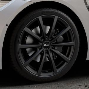 Brock B32 schwarz-matt lackiert Felge mit Reifen in 19Zoll Winterfelge Alufelge auf silbernem BMW M4 Typ F82 GTS 3,0l 368kW (500 PS) ⬇️ mit 15mm Tieferlegung ⬇️ Industriehalle 1 Thumbnail