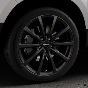 Brock B32 schwarz-matt lackiert Felge mit Reifen in 19Zoll Winterfelge Alufelge auf silbernem Dacia Duster Typ SD ⬇️ mit 15mm Tieferlegung ⬇️ Industriehalle 1 Thumbnail