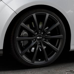 Brock B32 schwarz-matt lackiert Felge mit Reifen in 19Zoll Winterfelge Alufelge auf silbernem Ford Focus III Typ DYB (Schrägheck) (Stufenheck) Facelift ⬇️ mit 15mm Tieferlegung ⬇️ Industriehalle 1 Thumbnail