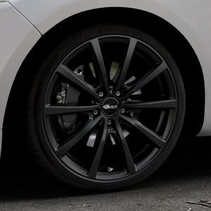 Brock B32 schwarz-matt lackiert Felge mit Reifen in 19Zoll Winterfelge Alufelge auf silbernem Ford Mondeo IV Limousine Typ BA7 Turnier Fließheck ⬇️ mit 15mm Tieferlegung ⬇️ Industriehalle 1 Thumbnail