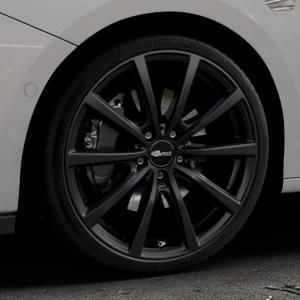 Brock B32 schwarz-matt lackiert Felge mit Reifen in 19Zoll Winterfelge Alufelge auf silbernem Opel Astra K Typ B-K ⬇️ mit 15mm Tieferlegung ⬇️ Industriehalle 1 Thumbnail