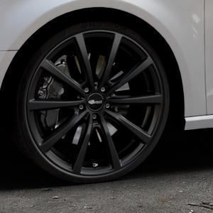 Brock B32 schwarz-matt lackiert Felge mit Reifen in 20Zoll Winterfelge Alufelge auf silbernem Audi A3 Typ 8V ⬇️ mit 15mm Tieferlegung ⬇️ Industriehalle 1 Thumbnail