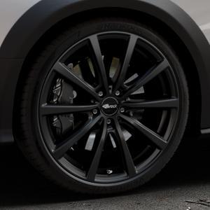 Brock B32 schwarz-matt lackiert Felge mit Reifen in 20Zoll Winterfelge Alufelge auf silbernem Audi A4 Typ 8KH/B8 Allroad ⬇️ mit 15mm Tieferlegung ⬇️ Industriehalle 1 Thumbnail