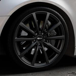 Brock B32 schwarz-matt lackiert Felge mit Reifen in 20Zoll Winterfelge Alufelge auf silbernem Audi A6 Typ 4G/C7 (Avant) ⬇️ mit 15mm Tieferlegung ⬇️ Industriehalle 1 Thumbnail