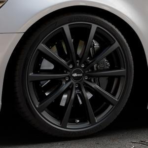 Brock B32 schwarz-matt lackiert Felge mit Reifen in 20Zoll Winterfelge Alufelge auf silbernem Audi A6 Typ 4G/C7 (Limousine) ⬇️ mit 15mm Tieferlegung ⬇️ Industriehalle 1 Thumbnail