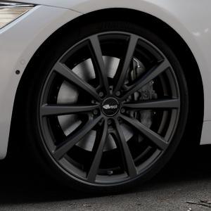 Brock B32 schwarz-matt lackiert Felge mit Reifen in 20Zoll Winterfelge Alufelge auf silbernem BMW 418d Typ F36 (Gran Coupe) 420d xDrive 420i 428i 435i 430d 440i 418i 430i 425d ⬇️ mit 15mm Tieferlegung ⬇️ Industriehalle 1 Thumbnail