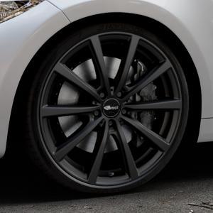 Brock B32 schwarz-matt lackiert Felge mit Reifen in 20Zoll Winterfelge Alufelge auf silbernem BMW M2 Typ F87 ⬇️ mit 15mm Tieferlegung ⬇️ Industriehalle 1 Thumbnail