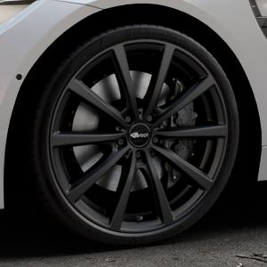 Brock B32 schwarz-matt lackiert Felge mit Reifen in 20Zoll Winterfelge Alufelge auf silbernem BMW M4 Typ F83 (Cabrio) 3,0l 317kW (431 PS) ⬇️ mit 15mm Tieferlegung ⬇️ Industriehalle 1 Thumbnail