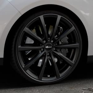 Brock B32 schwarz-matt lackiert Felge mit Reifen in 20Zoll Winterfelge Alufelge auf silbernem Ford C-Max II Typ DXA (10->) ⬇️ mit 15mm Tieferlegung ⬇️ Industriehalle 1 Thumbnail