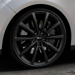 Brock B32 schwarz-matt lackiert Felge mit Reifen in 20Zoll Winterfelge Alufelge auf silbernem Ford Focus III Typ DYB (Turnier) ⬇️ mit 15mm Tieferlegung ⬇️ Industriehalle 1 Thumbnail