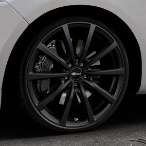 Brock B32 schwarz-matt lackiert Felge mit Reifen in 20Zoll Winterfelge Alufelge auf silbernem Ford Mondeo IV Limousine Typ BA7 Turnier Fließheck ⬇️ mit 15mm Tieferlegung ⬇️ Industriehalle 1 Thumbnail