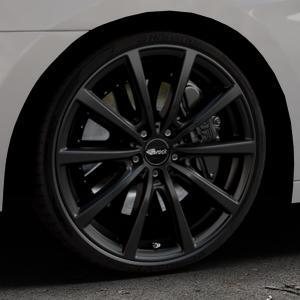 Brock B32 schwarz-matt lackiert Felge mit Reifen in 20Zoll Winterfelge Alufelge auf silbernem Hyundai i40 Typ VF Limousine Kombi Facelift ⬇️ mit 15mm Tieferlegung ⬇️ Industriehalle 1 Thumbnail