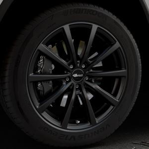 Brock B32 schwarz-matt lackiert Felge mit Reifen in 20Zoll Winterfelge Alufelge auf silbernem Jeep Grand Cherokee IV Typ WK ⬇️ mit 15mm Tieferlegung ⬇️ Industriehalle 1 Thumbnail