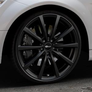 Brock B32 schwarz-matt lackiert Felge mit Reifen in 20Zoll Winterfelge Alufelge auf silbernem Mercedes C-Klasse Typ W204 Limousine ⬇️ mit 15mm Tieferlegung ⬇️ Industriehalle 1 Thumbnail