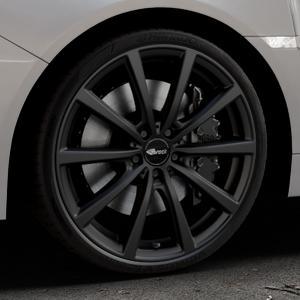 Brock B32 schwarz-matt lackiert Felge mit Reifen in 20Zoll Winterfelge Alufelge auf silbernem Subaru WRX Typ V1 Model 2018 ⬇️ mit 15mm Tieferlegung ⬇️ Industriehalle 1 Thumbnail