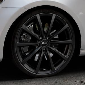 Brock B32 schwarz-matt lackiert Felge mit Reifen in 20Zoll Winterfelge Alufelge auf silbernem Volkswagen (VW) Golf 7 ⬇️ mit 15mm Tieferlegung ⬇️ Industriehalle 1 Thumbnail