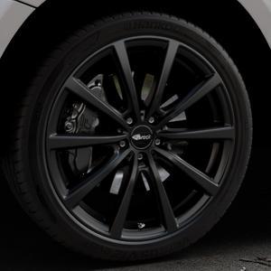 Brock B32 schwarz-matt lackiert Felge mit Reifen in 21Zoll Winterfelge Alufelge auf silbernem Audi Q5 I Typ 8R ⬇️ mit 15mm Tieferlegung ⬇️ Industriehalle 1 Thumbnail