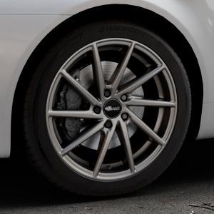 Brock B37 dark-sparkle lackiert Felge mit Reifen grau in 18Zoll Winterfelge Alufelge auf silbernem Alfa Romeo 159 Sportwagon ⬇️ mit 15mm Tieferlegung ⬇️ Industriehalle 1 Thumbnail
