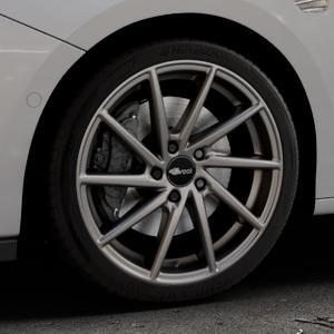 Brock B37 dark-sparkle lackiert Felge mit Reifen grau in 18Zoll Winterfelge Alufelge auf silbernem Opel Astra K Typ B-K ⬇️ mit 15mm Tieferlegung ⬇️ Industriehalle 1 Thumbnail