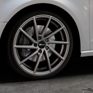 Brock B37 dark-sparkle lackiert Felge mit Reifen grau in 19Zoll Winterfelge Alufelge auf silbernem Audi A3 Typ 8V ⬇️ mit 15mm Tieferlegung ⬇️ Industriehalle 1 Thumbnail
