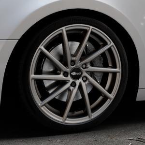 Brock B37 dark-sparkle lackiert Felge mit Reifen grau in 19Zoll Winterfelge Alufelge auf silbernem Audi A4 Typ B9 (Avant) ⬇️ mit 15mm Tieferlegung ⬇️ Industriehalle 1 Thumbnail