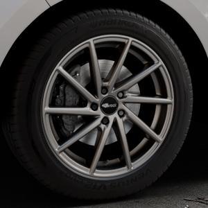 Brock B37 dark-sparkle lackiert Felge mit Reifen grau in 19Zoll Winterfelge Alufelge auf silbernem Ford Edge Typ SBF ⬇️ mit 15mm Tieferlegung ⬇️ Industriehalle 1 Thumbnail