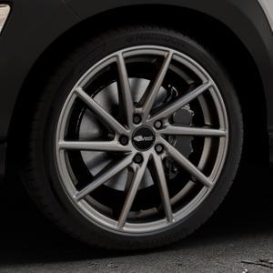 Brock B37 dark-sparkle lackiert Felge mit Reifen grau in 19Zoll Winterfelge Alufelge auf silbernem Hyundai Kona Typ OS ⬇️ mit 15mm Tieferlegung ⬇️ Industriehalle 1 Thumbnail