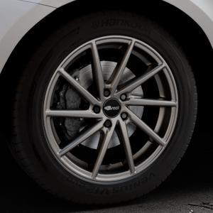 Brock B37 dark-sparkle lackiert Felge mit Reifen grau in 19Zoll Winterfelge Alufelge auf silbernem Volvo XC60 Typ D Facelift ⬇️ mit 15mm Tieferlegung ⬇️ Industriehalle 1 Thumbnail