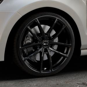 Brock B38 schwarz lackiert Felge mit Reifen in 18Zoll Winterfelge Alufelge auf silbernem Volkswagen (VW) Polo V Typ 6R ⬇️ mit 15mm Tieferlegung ⬇️ Industriehalle 1 Thumbnail