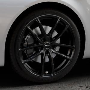 Brock B38 schwarz lackiert Felge mit Reifen in 19Zoll Winterfelge Alufelge auf silbernem Alfa Romeo 159 Sportwagon ⬇️ mit 15mm Tieferlegung ⬇️ Industriehalle 1 Thumbnail