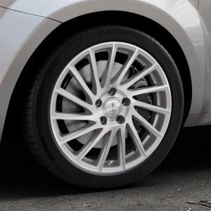 Brock B39 ferric-grey front-poliert Felge mit Reifen grau in 17Zoll Alufelge auf silbernem Alfa Romeo Mito Typ 955 ⬇️ mit 15mm Tieferlegung ⬇️ Industriehalle 1 Thumbnail