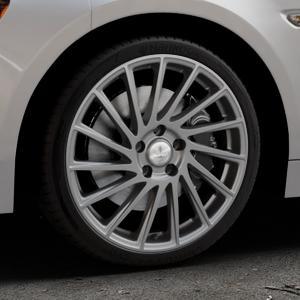 Brock B39 himalaya-grey-matt lackiert Felge mit Reifen grau in 18Zoll Winterfelge Alufelge auf silbernem Fiat 124 Spider Typ NF ⬇️ mit 15mm Tieferlegung ⬇️ Industriehalle 1 Thumbnail