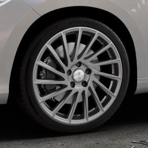 Brock B39 himalaya-grey-matt lackiert Felge mit Reifen grau in 18Zoll Winterfelge Alufelge auf silbernem Fiat Tipo II Limousine Typ 356 ⬇️ mit 15mm Tieferlegung ⬇️ Industriehalle 1 Thumbnail