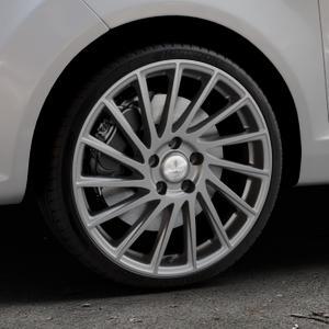 Brock B39 himalaya-grey-matt lackiert Felge mit Reifen grau in 18Zoll Winterfelge Alufelge auf silbernem Ford Fiesta VI Typ JA8 ⬇️ mit 15mm Tieferlegung ⬇️ Industriehalle 1 Thumbnail