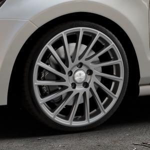 Brock B39 himalaya-grey-matt lackiert Felge mit Reifen grau in 18Zoll Winterfelge Alufelge auf silbernem Volkswagen (VW) Polo V Typ 6R ⬇️ mit 15mm Tieferlegung ⬇️ Industriehalle 1 Thumbnail