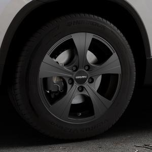 CARMANI 11 Rush black matt Felge mit Reifen schwarz in 16Zoll Winterfelge Alufelge auf silbernem Skoda Karoq Typ NU ⬇️ mit 15mm Tieferlegung ⬇️ Industriehalle 1 Thumbnail