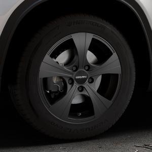 CARMANI 11 Rush black matt Felge mit Reifen schwarz in 16Zoll Winterfelge Alufelge auf silbernem Suzuki Vitara Typ LY ⬇️ mit 15mm Tieferlegung ⬇️ Industriehalle 1 Thumbnail