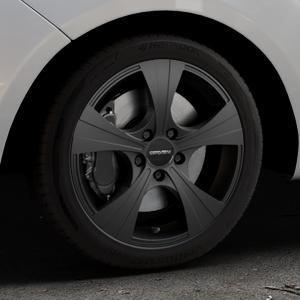 CARMANI 11 Rush black matt Felge mit Reifen schwarz in 17Zoll Winterfelge Alufelge auf silbernem Hyundai ix20 Typ JC ⬇️ mit 15mm Tieferlegung ⬇️ Industriehalle 1 Thumbnail