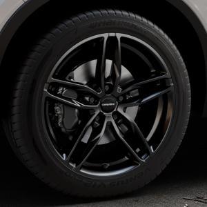 CARMANI 13 Twinmax black Felge mit Reifen schwarz in 19Zoll Winterfelge Alufelge auf silbernem Volvo XC40 Typ X ⬇️ mit 15mm Tieferlegung ⬇️ Industriehalle 1 Thumbnail